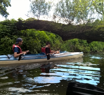 008 Ćwiczenia na rzece przed spływem.